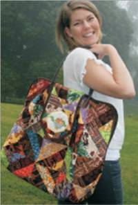 Java Jumbles Travel Bag Pattern by Kathy Adams of KoolKat Quilting & QuiltWoman