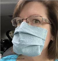 No-Strap Face Mask Pattern by Lazy Girl Designs