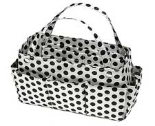 Purse Organizer white with black polkadots