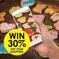 Photograph your biscuits to win 30% off your shopping at Real Foods