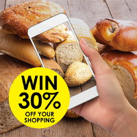 Photograph the bread you have baked for a chance to win 30% off your shopping at Real Foods