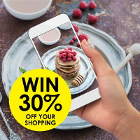 Photograph food you've prepared using batter for a chance to win 30% off your shopping at Real Foods