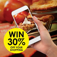 Share a photo of your pastry baking with us for a chance to win 30% off your shopping at Real Foods