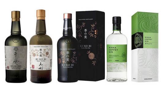 Gin fabriqué au Japon.