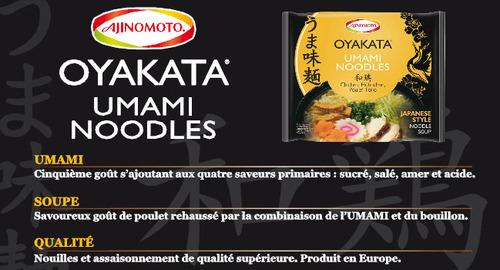 Nouvlles nouilles au goût Umami