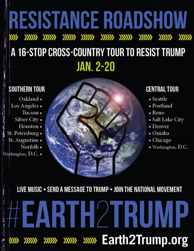 Earth2Trump Tour Poster