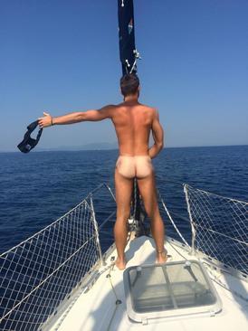 Naked boys sailing #4