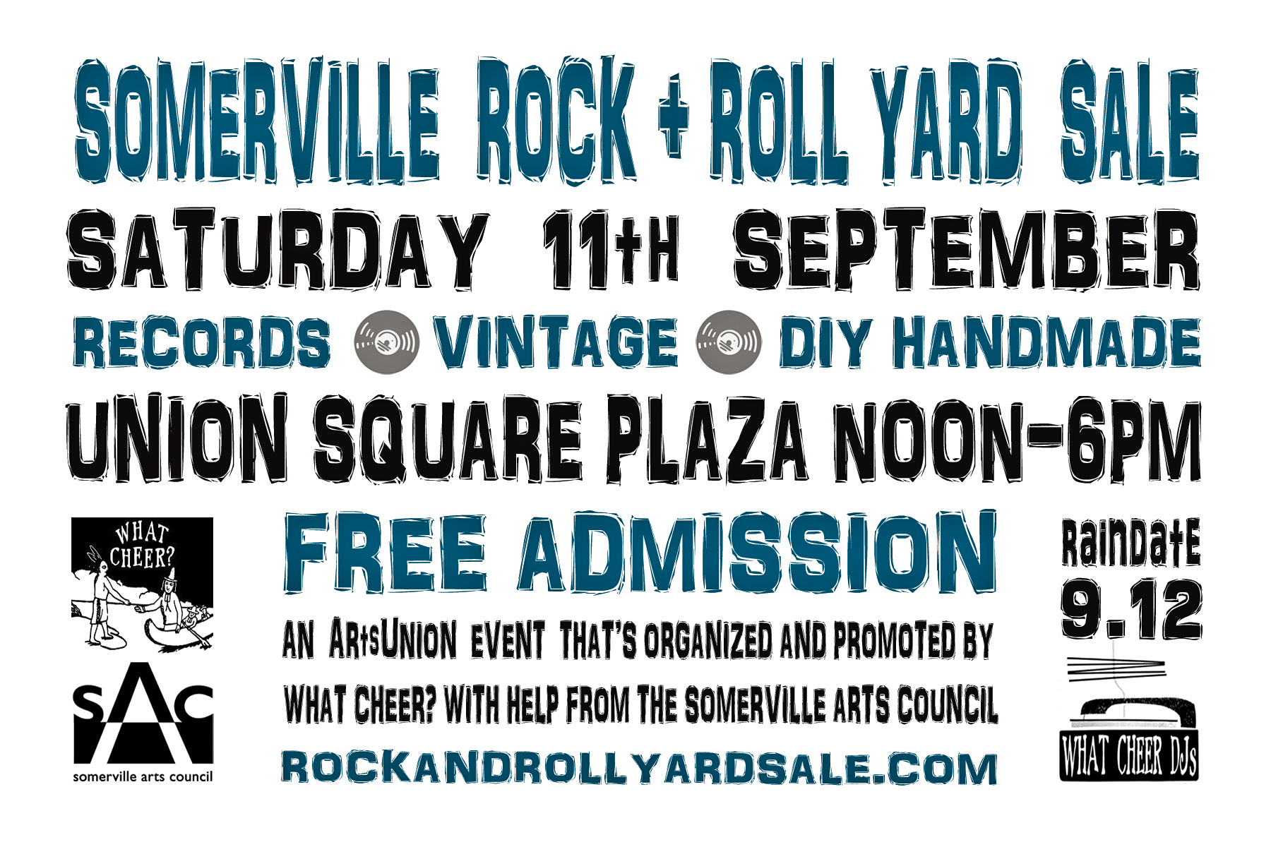 the somerville rock and roll yard sale returns to union square plaza on saturday 11 september 2021 free admission Noon to 6pm