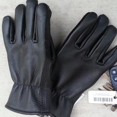 American alpaca lined buckskin leather gloves