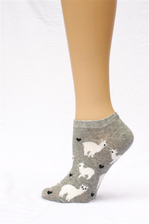 alpaca love ankle socks grey