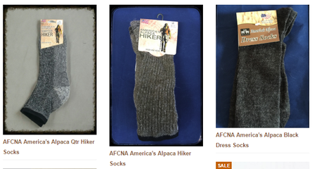 AFCNA alpaca socks