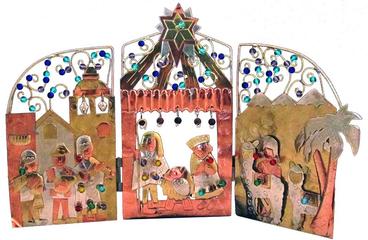 alpaca nativity scene