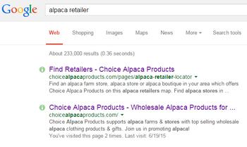 alpaca retailer on the map