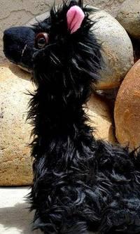 black suri alpaca licorice
