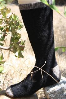 alpaca socks made in USA Outdoor Adventure black