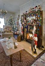 The nutcracker collection is a holiday hallmark of the Holden House' inn decor...