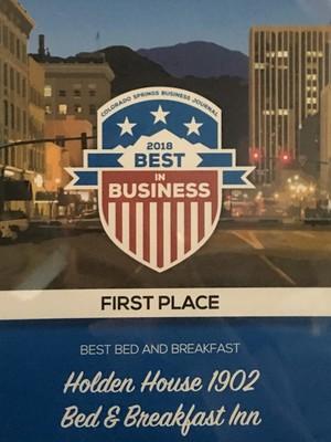 Holden House awared Best in Business 2018!