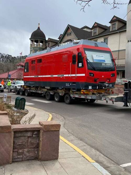New COG Railway winds its way through Manitou Springs: Photo by Gwenn David Whickerbill Gifts