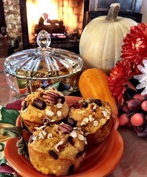Autumn Harvest Chocolate Pumpkin Muffin Holden House