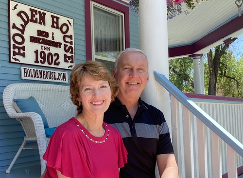 Holden House innkeepers Sallie and Welling Clark