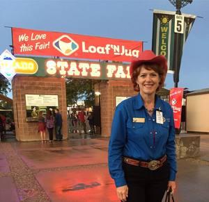 Innkeeper Sallie Clark visits the Colorado State Fair