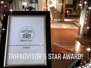 Holden House receives 5-Star TripAdvisor Rating!