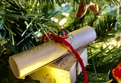 The Christmas Spider is an unexpected welcome addition to any holiday tree