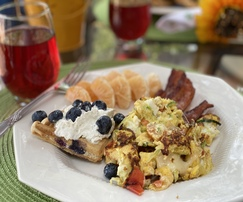 Breakfast is included in your stay and served in the dining room