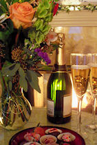 Holden House offers romantic packages, some with champagne and flowers...