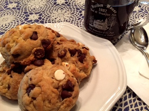 Chocolate Chunk White Chocolate Chip Cookies at Holden House are a delicious addition to any stay