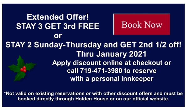 Extended Offer Discount through January 2021 at Holden House