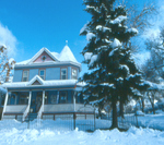 Snow falls but hearts are warm inside Holden House B&B in Colorado Springs