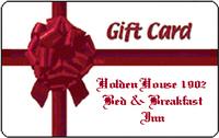 Gift Certificates for Holden House