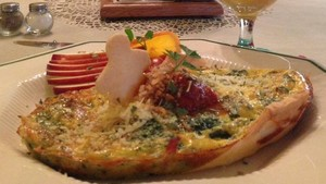 Italian Eggs Florentine is just one of Holden House' many breakfast specialties!