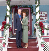 Innkeepers Sallie and Welling Clark provide a warm welcome