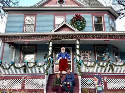 Santa Joe at Ho Ho Holden House!