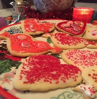 Valentine Cutout Sugar Cookies from Holden House