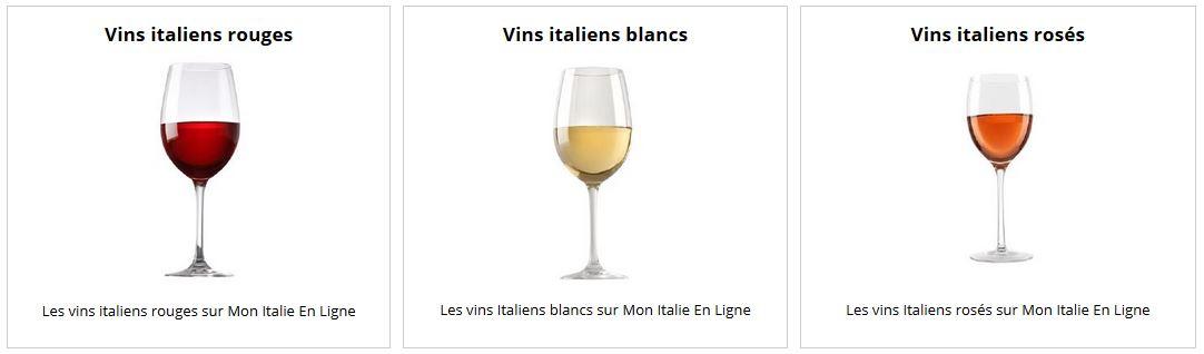 Nouvelle carte de vins italiens