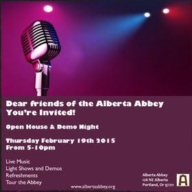 Open House February 19 at Alberta Abbey