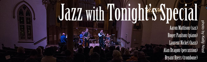 Portland Story Theater's house band Tonight's Special at The Old Church Concert Hall