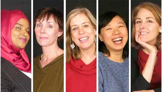 Portland Story Theater Valentine's Zahra Abukar Katie Morriw-Henson Eva Rotter-Johnson Ruiyuan Goa Joan-Carrol Baron