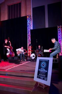 Portland Story Theater's house band Bamberger, Engel, Hines and Eave