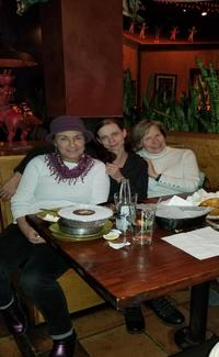 Peggy, Liz and April at their Christmas Party