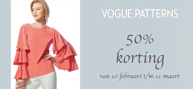 Vogue Patterns 50 Korting New Look Lente La Mia Boutique Februari
