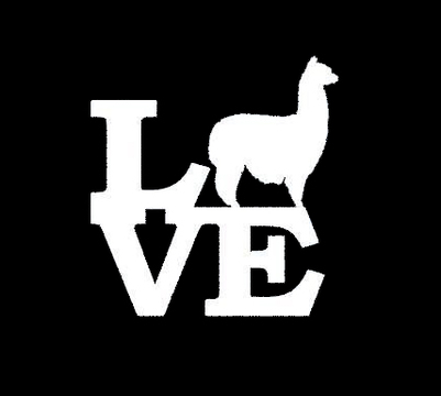 alpaca love window sticker