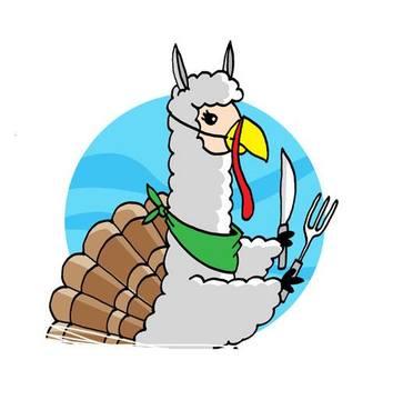 thanksgiving alpaca turkey