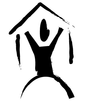 IMAGE: Figure in the shape of a person holds a roof over their head.