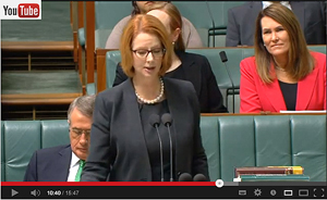 Prime Minister Gillard delivering Second Reading Speech - Medicare Levy Amendment (DisabilityCare Australia) Bill 2013 in the House Of Representatives