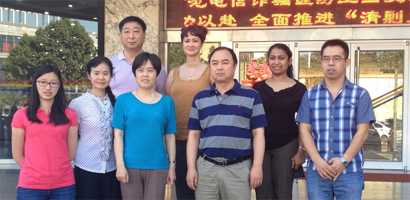IMAGE: Ngila Bevan, Advocacy and Communications Manager with members of the China Disabled Persons Federation (CDPF)