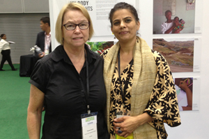 Therese Sands with Madhu Malhotra, Director Gender Programme, Amnesty International